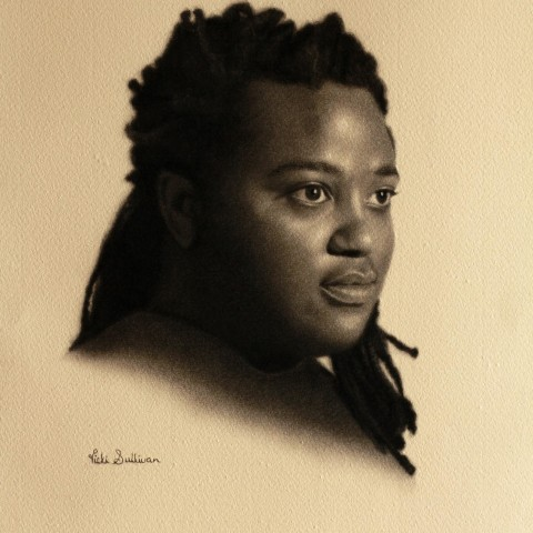 Title:Mbongeni Maphisa, Medium: Charcoal on Roma paper, Size: H 40cm x w 30cm, available