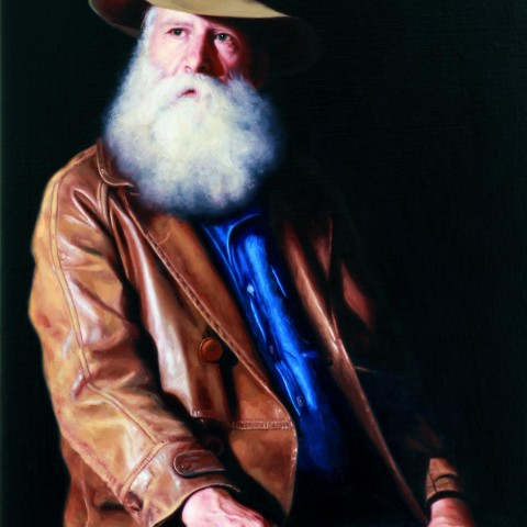 Title: The Bush Poet, Medium: oil on linen, Size: H 100cm x W 68cm, Available
