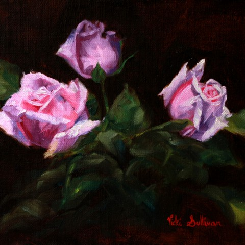 Title: Fresh buds, Medium: oil on linen, Size: w 25cm x h 20cm , Available