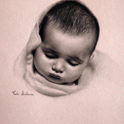 Title: Soft as a Breath, Medium: Graphite on Canson paper H 35cm x W 25cm, available