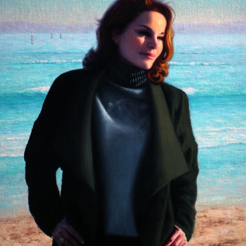 Portrait of Sigrid Thornton,Medium: oil on linen, size:H 90cm x W 70cm, Available