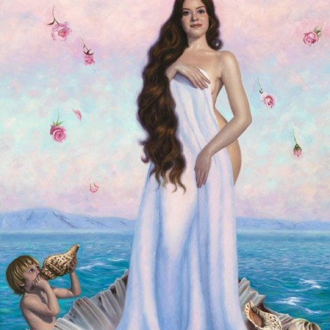 The Birth of Venus, Oil on linen, H 150cm x W 90cm